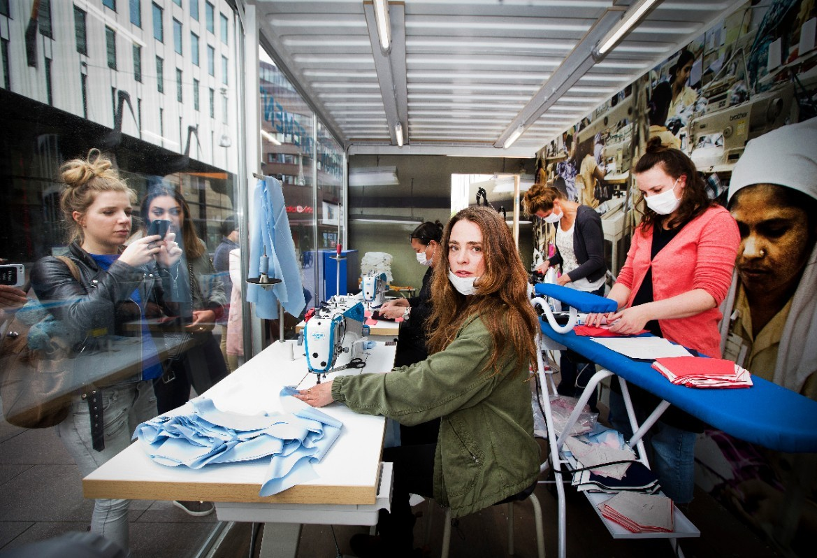A sweatshop in the centre of The Hague